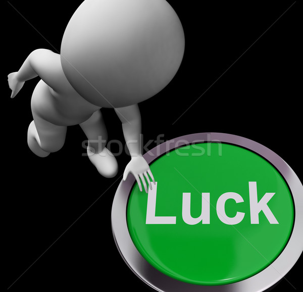 Luck Button Shows Chance Gamble Or Fortunate Stock photo © stuartmiles