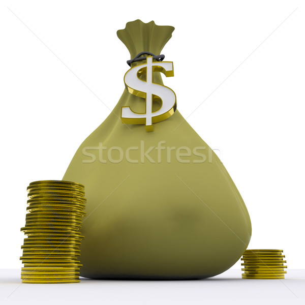 Dollar Bag Shows Money Earnings And Currency Stock photo © stuartmiles