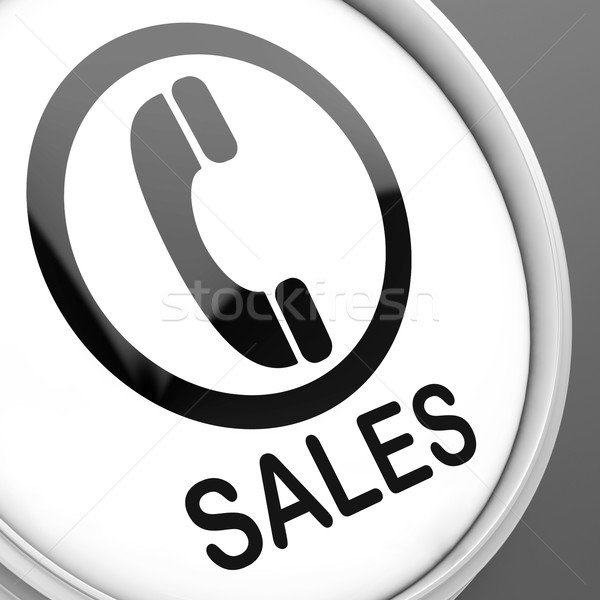 Sales Button Shows Call For Sales Assistance Stock photo © stuartmiles