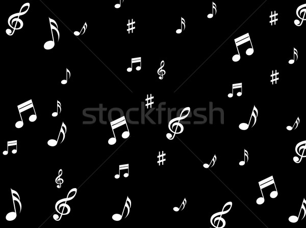 Musical Notes Background Means Melodies Sounds And Notes Stock photo © stuartmiles