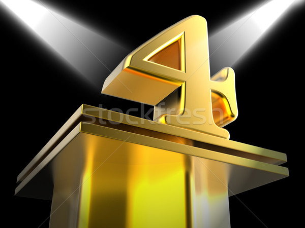 Arany négy film díjak jelentés mozi Stock fotó © stuartmiles