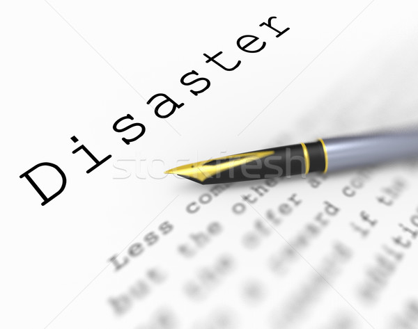 Disaster Word Shows Catastrophe Emergency Or Crisis Stock photo © stuartmiles