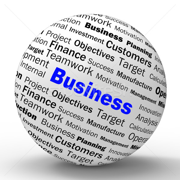 Business Sphere Definition Means Corporative Transactions And Co Stock photo © stuartmiles