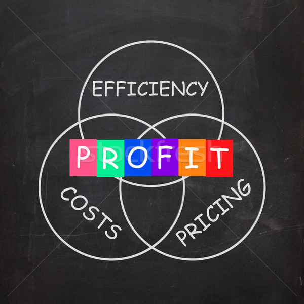 Profit Comes From Efficiency in Costs and Pricing Stock photo © stuartmiles