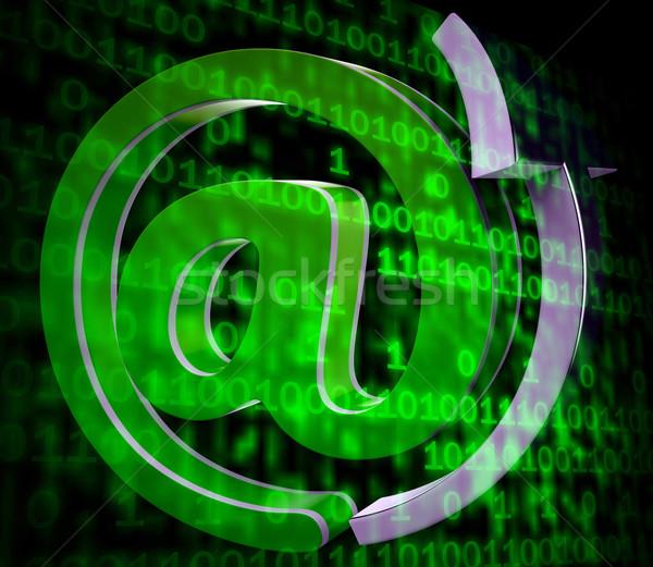 Matrix Code Copyspace Shows Digital Numbers Programming Backgrou Stock photo © stuartmiles
