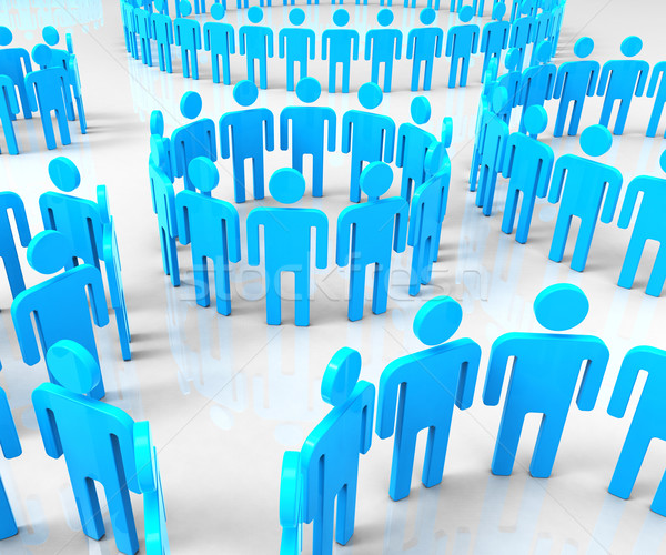 Network Groups Means Global Communications And Communicate Stock photo © stuartmiles