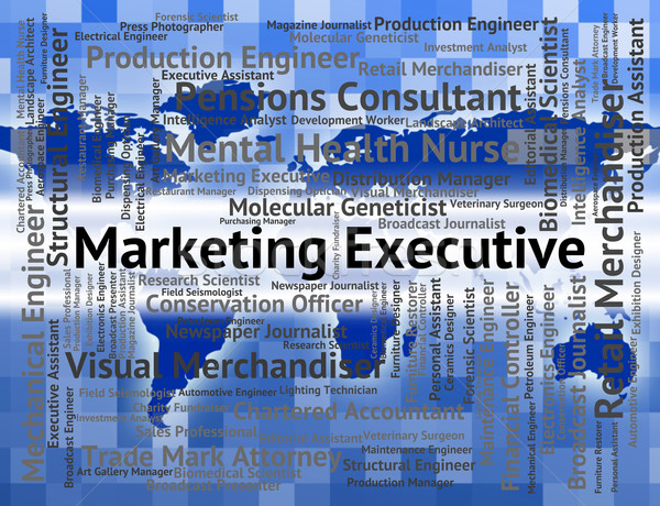 Marketing Executive Shows Senior Manager And Advertising Stock photo © stuartmiles