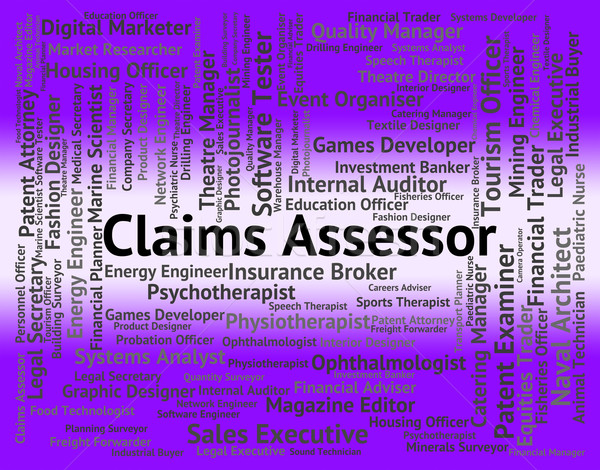 Stock photo: Claims Assessor Represents Claiming Occupations And Insurance