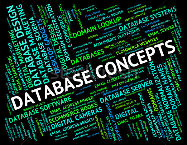 Database Concepts Represents Text Conception And Ideas Stock photo © stuartmiles