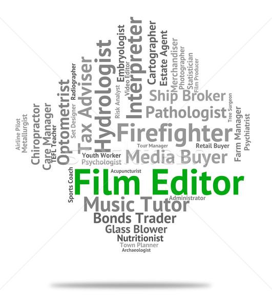 Film editor film baan werving tonen Stockfoto © stuartmiles