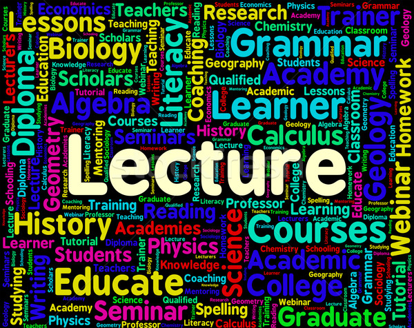Lecture Word Means Lesson Text And Words Stock photo © stuartmiles