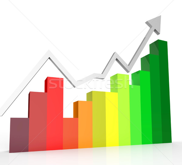 Increasing Graph Shows Financial Report And Biz Stock photo © stuartmiles
