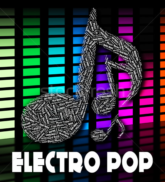 Electro Pop Represents Sound Tracks And Funk Stock photo © stuartmiles