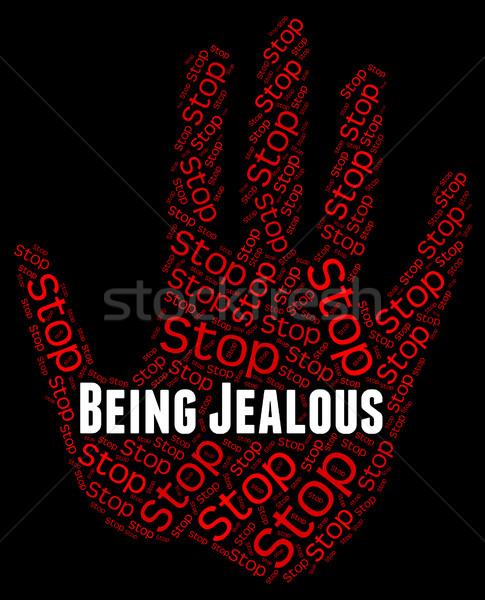 Stop geloso amaro Foto d'archivio © stuartmiles