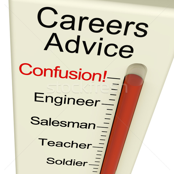 Careers Advice Monitor Confusion Shows Employment Guidance And D Stock photo © stuartmiles