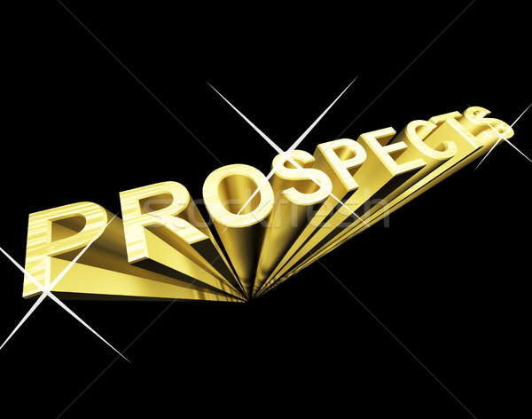Prosperity Text In Gold And 3d As Symbol For Success And Wealth Stock photo © stuartmiles