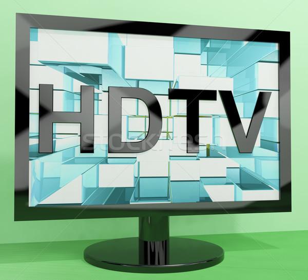 Hdtv контроля высокое разрешение телевидение телевизор экране Сток-фото © stuartmiles