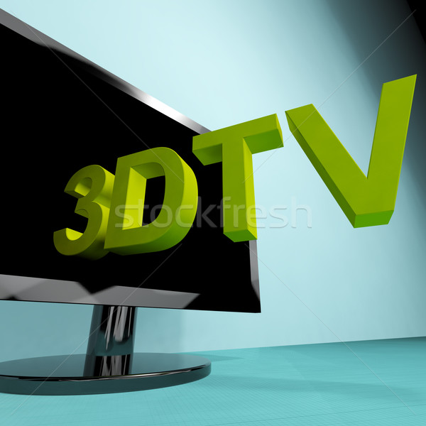 Three Dimensional Television Meaning 3D HD TV Stock photo © stuartmiles