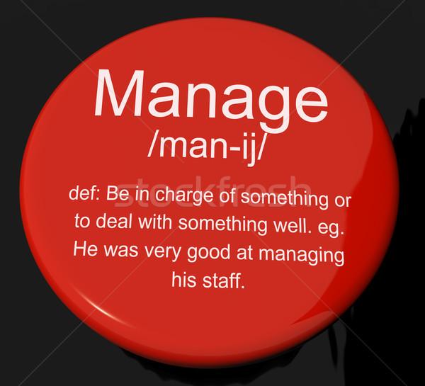 Foto stock: Definición · botón · gestión · súper