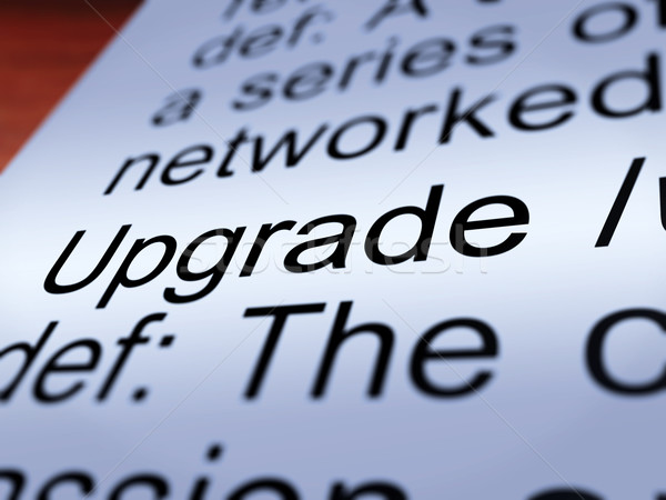 Upgrade Definition Closeup Showing Software Update Stock photo © stuartmiles
