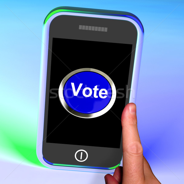 Vote Button On Mobile Shows Options Or Choices Stock photo © stuartmiles