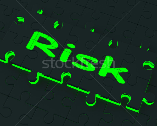 Risk Puzzle Shows Danger And Unsafe Stock photo © stuartmiles