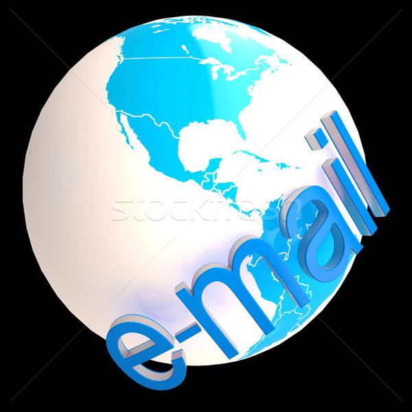 E-mail dünya uluslararası iletişim ağ dünya Stok fotoğraf © stuartmiles