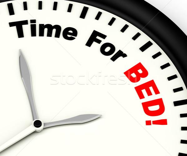 時間 ベッド 不眠症 疲労 睡眠 ストックフォト © stuartmiles