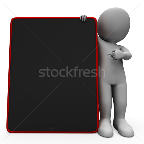 Blank Space Tablet Computer Shows Touchpad Multimedia Stock photo © stuartmiles