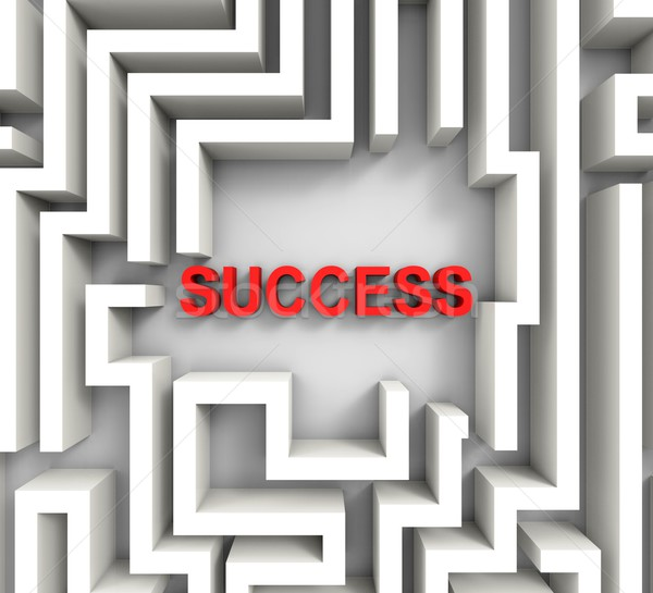 Succès labyrinthe puzzle réalisation gagner Photo stock © stuartmiles