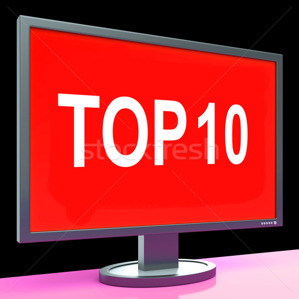 Top Ten Screen Shows Best Ranking Or Rating Stock photo © stuartmiles