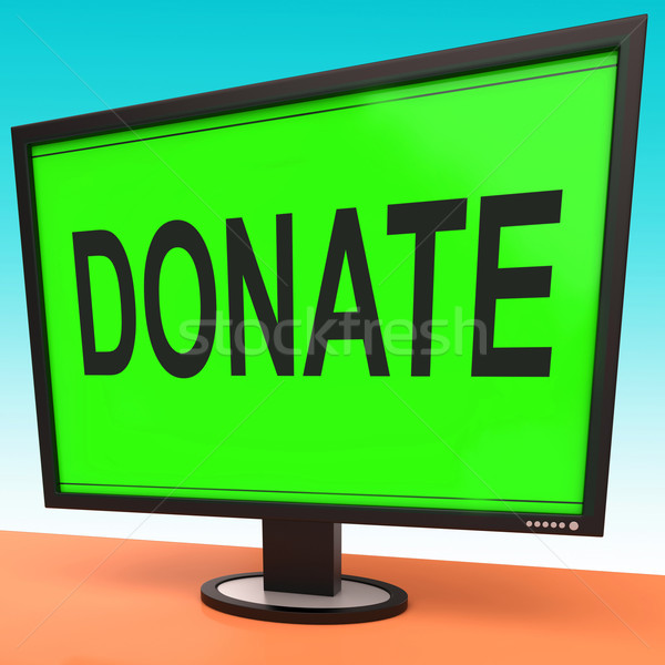 Donate Computer Shows Charity Donating And Fundraising Stock photo © stuartmiles