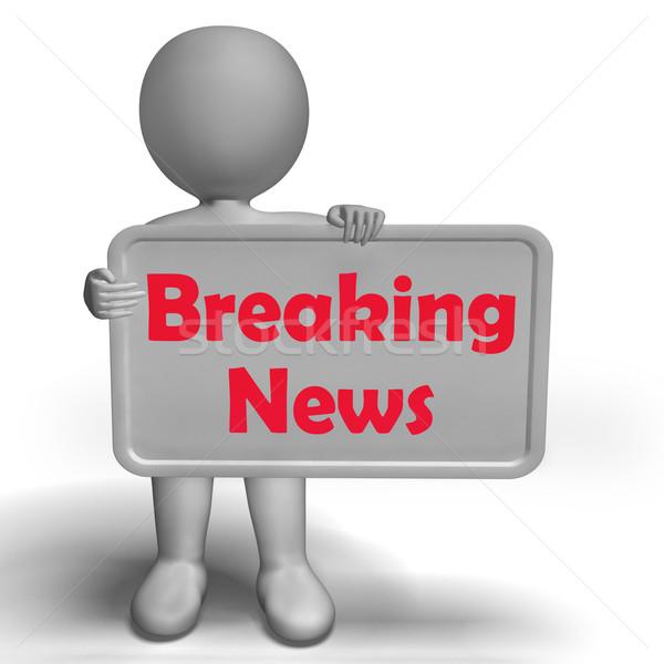 Rendkívüli hírek felirat főcím hírek közlöny mutat Stock fotó © stuartmiles