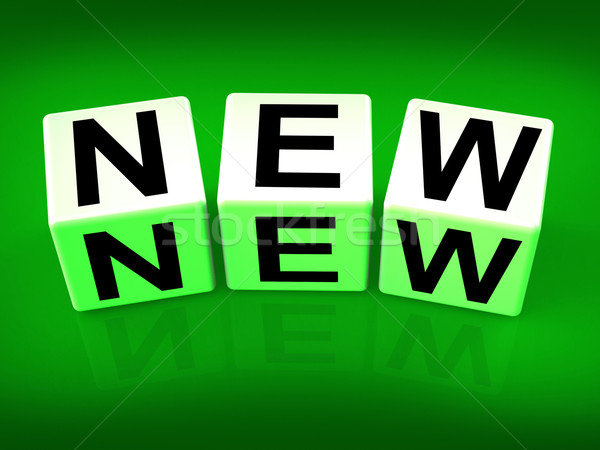 New Blocks Indicate Introductory Recent Modern or Newness Stock photo © stuartmiles