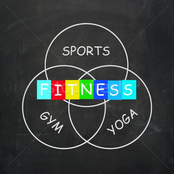 Fitness activiteiten sport yoga gymnasium oefening Stockfoto © stuartmiles