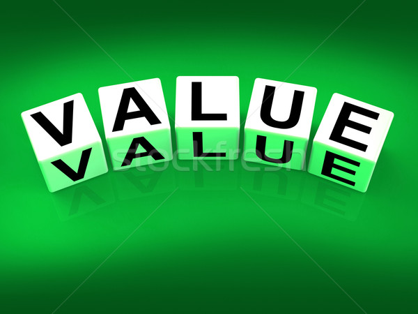 Value Blocks Represent Importance Significance and Worth Stock photo © stuartmiles