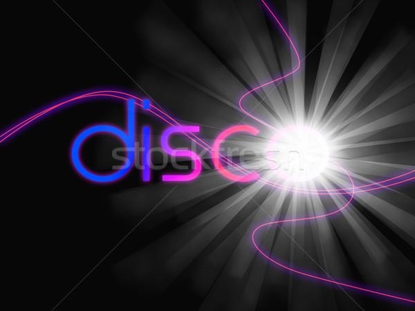 Groovy Disco Means Dancing Partying And Music Stock photo © stuartmiles