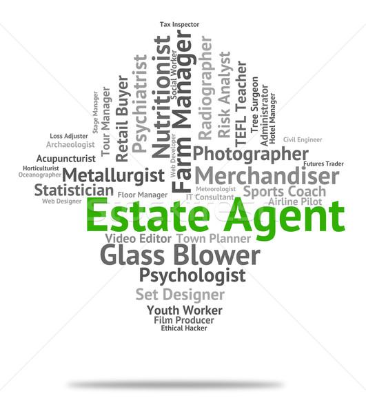 агент по продаже недвижимости сотрудник карьеру домах Сток-фото © stuartmiles