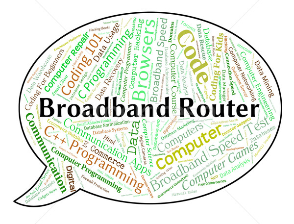 Broadband Router Means World Wide Web And Computer Stock photo © stuartmiles