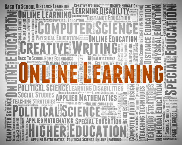 Online Learning Shows World Wide Web And Searching Stock photo © stuartmiles