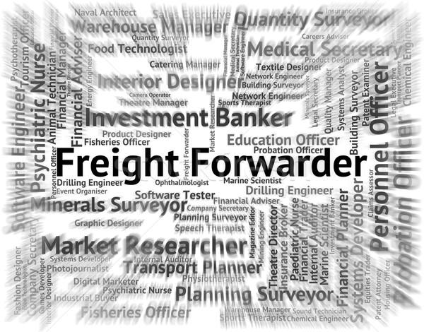 Bezetting woorden vracht baan werknemer scheepvaart Stockfoto © stuartmiles