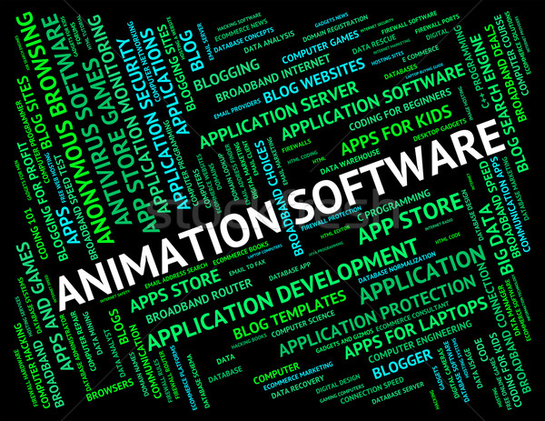 Animation Software Represents Animated Programming And Programs Stock photo © stuartmiles