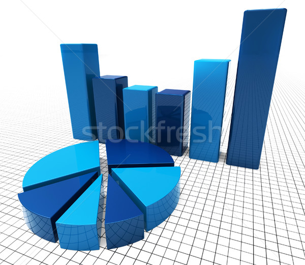 Graph Report Represents Information Corporation And Graphic Stock photo © stuartmiles