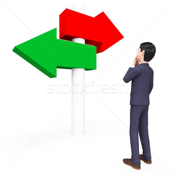 бизнесмен профессиональных голосования бизнесменов решение коммерческих Сток-фото © stuartmiles