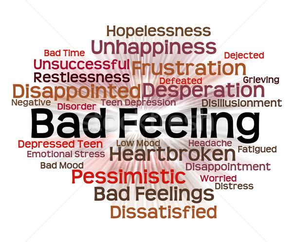 Bad Feeling Shows Ill Will And Animosity Stock photo © stuartmiles