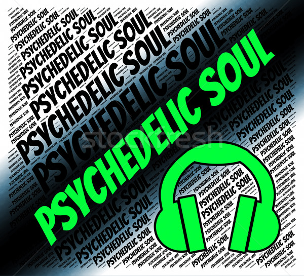 Psychedelic Soul Represents American Gospel Music And Acoustic Stock photo © stuartmiles