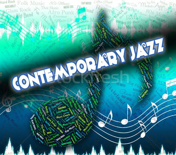 Contemporain jazz up date modernes jour Photo stock © stuartmiles
