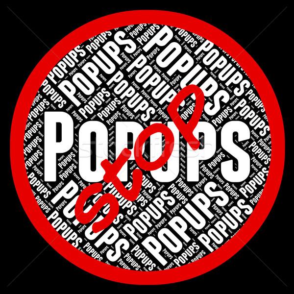 Stop okno reklama reklamy pop kontroli Zdjęcia stock © stuartmiles