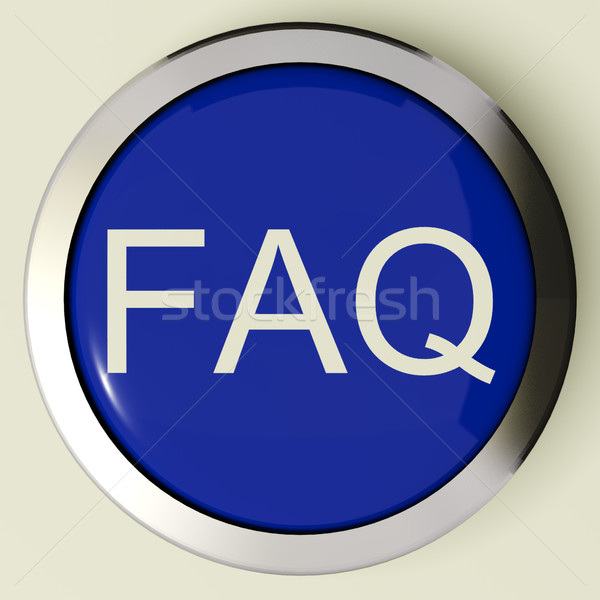 Frequently Asked Questions Button Or FAQ Icon Stock photo © stuartmiles