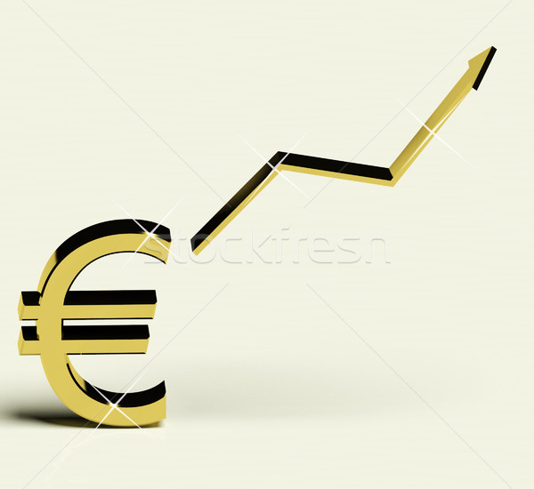 Euro Sign And Up Arrow As Symbol For Earnings Or Profit Stock photo © stuartmiles